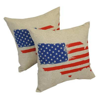 Thighes Spirit of America Indoor/Outdoor Throw Pillow