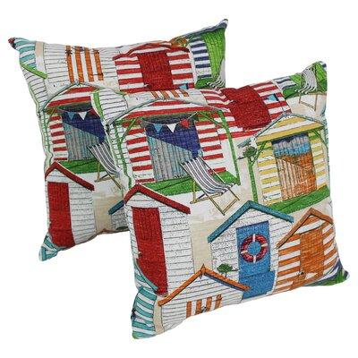 Abaunza Beach Huts Cabana Indoor/Outdoor Throw Pillow