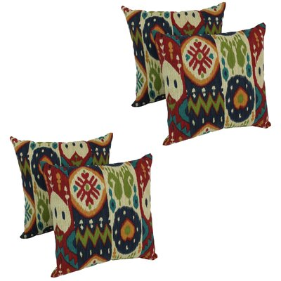 Genibrel Dockside Indoor/Outdoor Throw Pillow Set Of: Set of 4