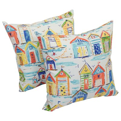 Bataan Baycove Hut Indoor/Outdoor Throw Pillow Set Of: Set of 4