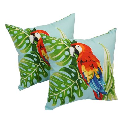 Laxman Parrot Palm Indoor/Outdoor Throw Pillows Set Of: Set of 4