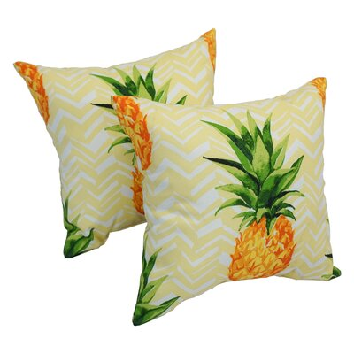 Abid Pineapple Indoor/Outdoor Party Throw Pillow Set Of: Set of 4
