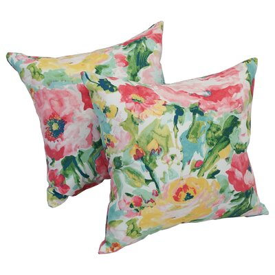 Rosenfeld Watercolor Outdoor Throw Pillow