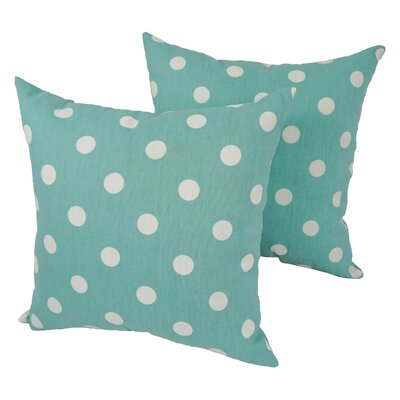 Cutright Polka Dot Outdoor Throw Pillow