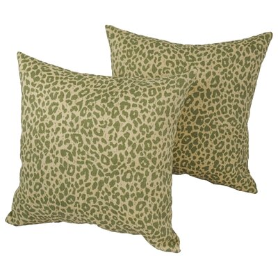 Victoria Leopard Square Outdoor Throw Pillow