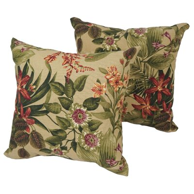 Karimi Day Lily Outdoor Throw Pillow