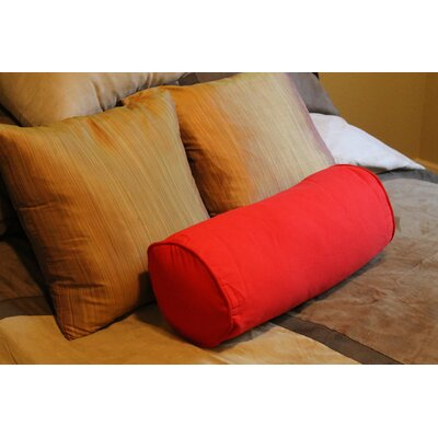 Premium Solid Cotton Futon Bolster (Set of 2) Fabric: Red