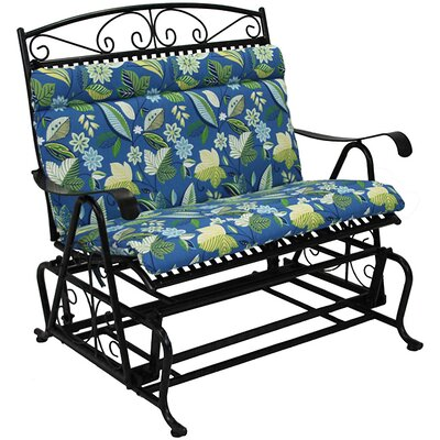 Skyworks Outdoor Bench Cushion Fabric: Skyworks Caribbean