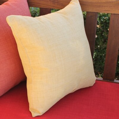 Blazing Needles Outdoor Solid Throw Pillow (Set of 2) - Color: Mocha at Sears.com