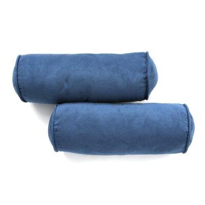 Microsuede Bolster Pillow Color: Indigo