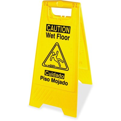 English/Spanish Wet Floor Sign