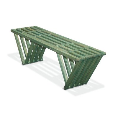 GloDea Xquare X60 Wood Picnic Bench - Finish: Alligator Green at Sears.com