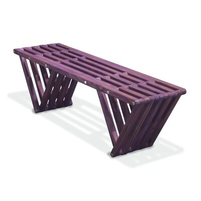 GloDea Xquare X60 Wood Picnic Bench - Finish: Purple Berry at Sears.com