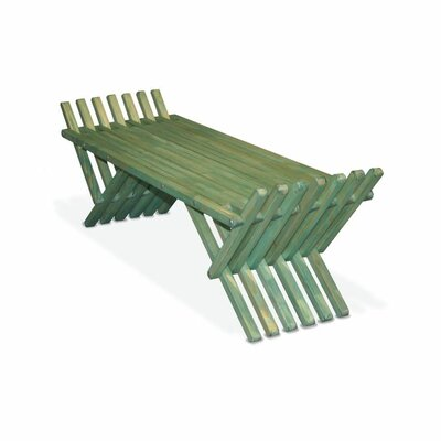 GloDea X90 French Bench Pine Picnic Bench - Finish: Alligator Green at Sears.com