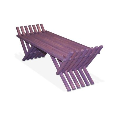 GloDea X90 French Bench Pine Picnic Bench - Finish: Purple Berry at Sears.com