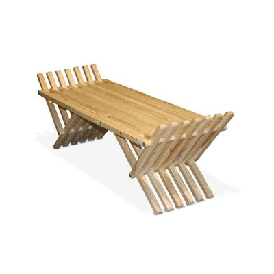 GloDea X90 French Bench Pine Picnic Bench - Finish: Teak Oil at Sears.com