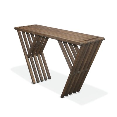 Xquare Eco Friendly Console Table X60 Finish: Espresso Brown