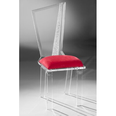 Hollywood Acrylic Side Chair Upholstery: Red
