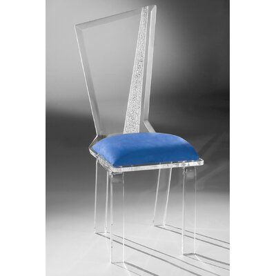 Hollywood Acrylic Side Chair Upholstery: Cobalt