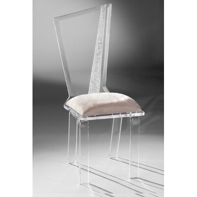 Hollywood Acrylic Side Chair Upholstery: Creme