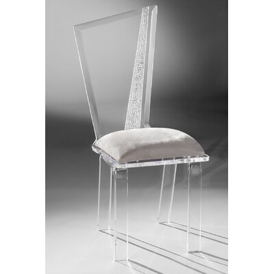 Hollywood Acrylic Side Chair Upholstery: Silver