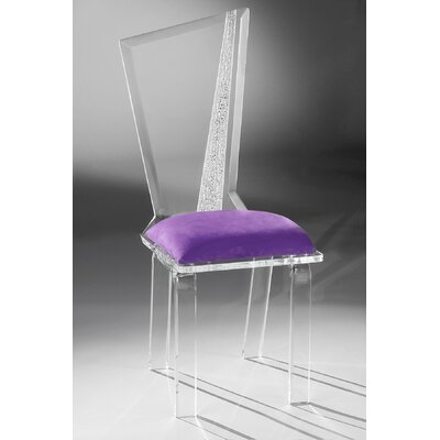 Hollywood Acrylic Side Chair Upholstery: Violet