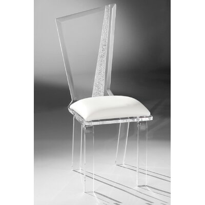 Hollywood Acrylic Side Chair Upholstery: White
