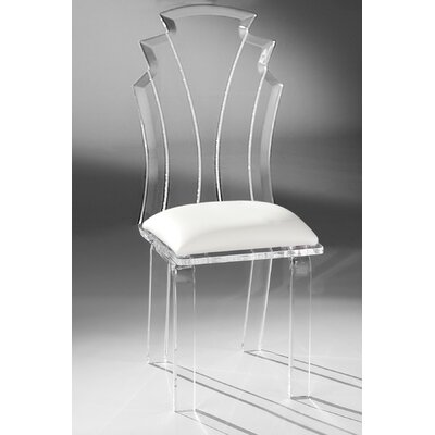 Tiffany Side Chair Upholstery: White