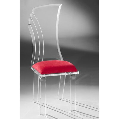 Prisma Side Chair Upholstery: Red