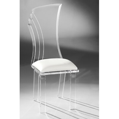 Prisma Side Chair Upholstery: White