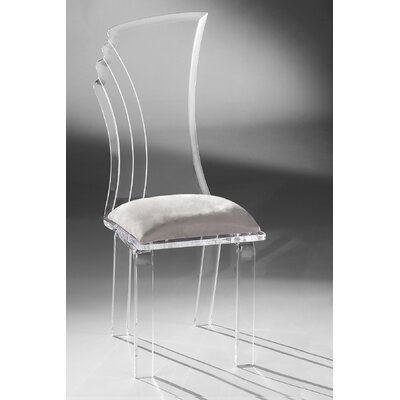 Prisma Side Chair Upholstery: Silver