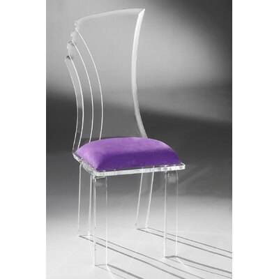 Prisma Side Chair Upholstery: Violet