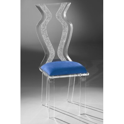 Monaco Acrylic Side Chair Upholstery: Cobalt Microfibre
