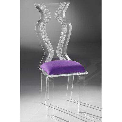 Monaco Acrylic Side Chair Upholstery: Violet Microfibre