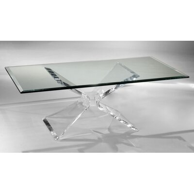 Butterfly Coffee Table Size: 17.5 H x 28 W x 52 D