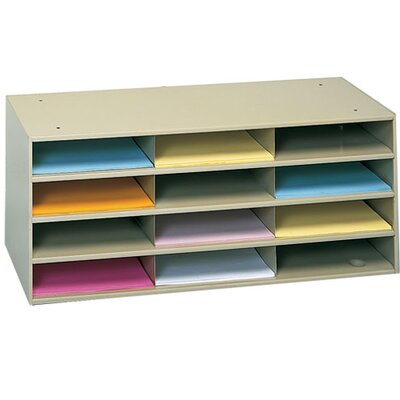 Prime Cold Rolled Horizontal Literature Rack Color: Tan