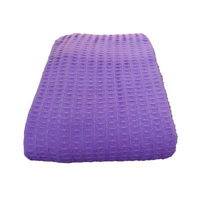 Cozy Fleece Santa Barbara Waffle Cotton Weave Blanket - Size: King, Color: Purple at Sears.com