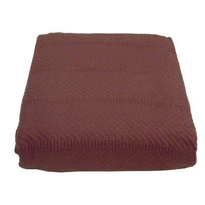 Cozy Fleece Egyptian Cotton Herringbone Blanket - Size: Full/Queen, Color: Burgundy at Sears.com