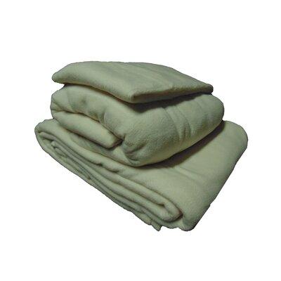 Cozy Fleece Micro Fleece Sheet Set - Color: Ivory, Size: Queen