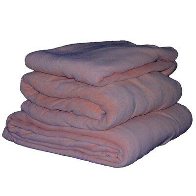 Cozy Fleece Micro Fleece Sheet Set - Color: Rose, Size: Twin