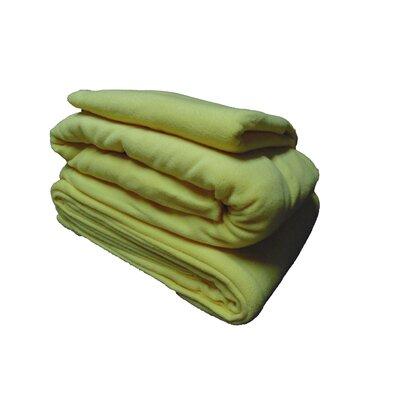 Cozy Fleece Micro Fleece Sheet Set - Color: Light Yellow, Size: Queen