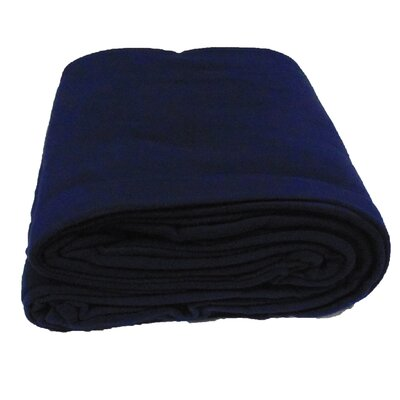 Blanket Color: Navy, Size: Twin