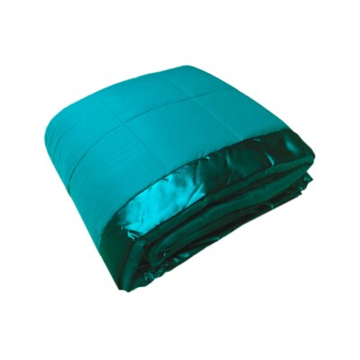 Cartee Down Alternative All Seasons Blanket with Satin Trim Size: Full/Queen, Color: Cerulean