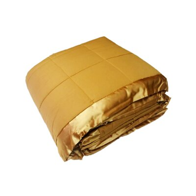 Cartee Down Alternative All Seasons Blanket with Satin Trim Size: Full/Queen, Color: Gold