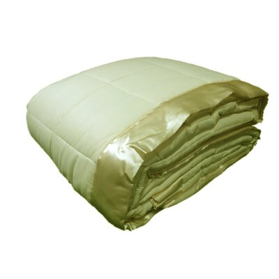 Down Alternative All Seasons Blanket with Satin Trim Size: Twin, Color: Ivory