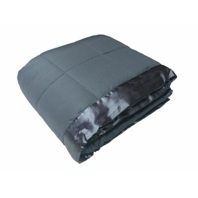 Cartee Down Alternative All Seasons Blanket with Satin Trim Color: Steel Gray, Size: King