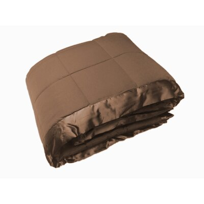 Down Alternative All Seasons Blanket with Satin Trim Size: Twin, Color: Taupe