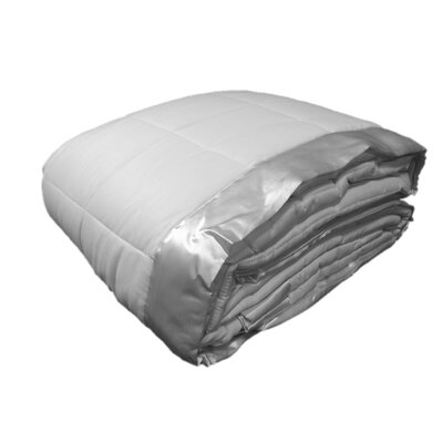 Cartee Down Alternative All Seasons Blanket with Satin Trim Size: Twin, Color: White