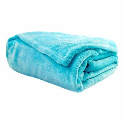 Twin Cloud Blanket Color: Aqua