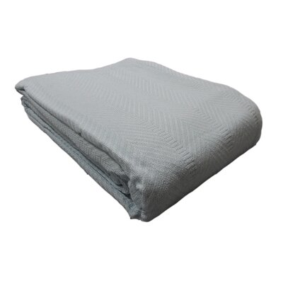 Egyptian Quality Cotton Herringbone Throw Blanket